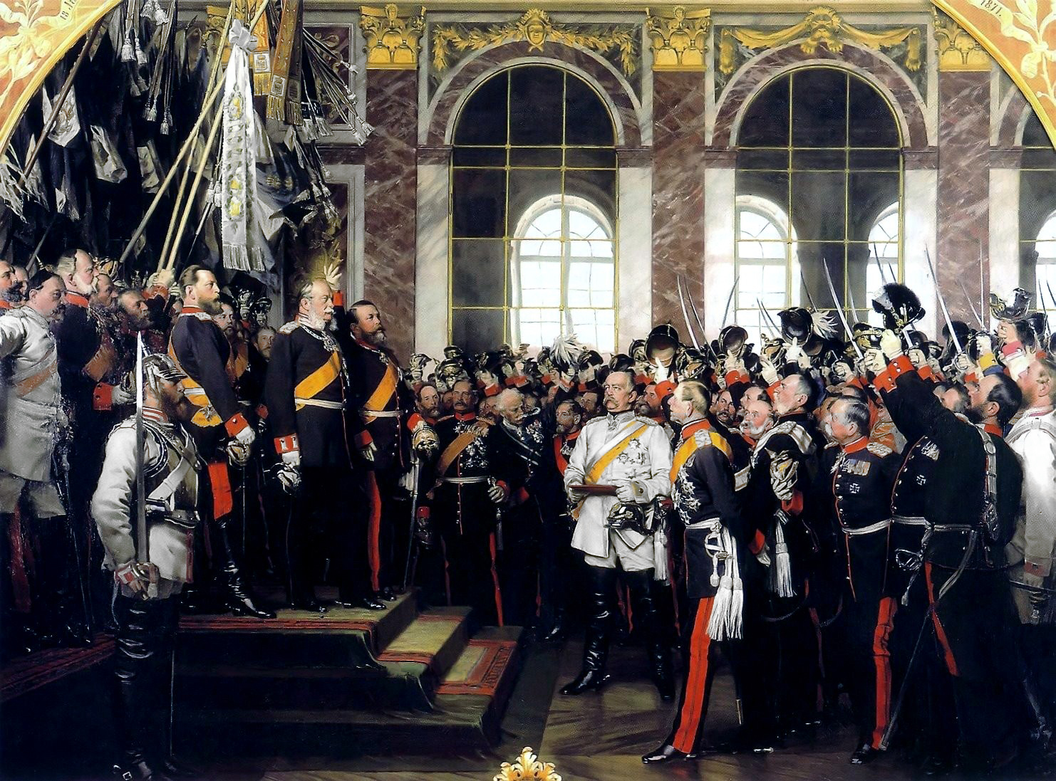 Proclamation of Wilhelm I of Prussia, German Emperor by Anton von Werner | revelationrevealed.online