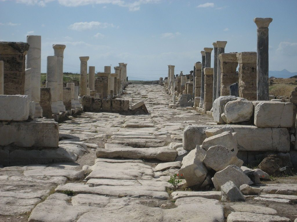 Colonnaded street in Laodicea | revelationrevealed.online